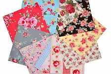 "Quilting fabric 40 Charm Pack 5x5"" squares Vintage Retro English Floral Rose"