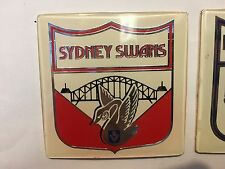 RARE SYDNEY SWANS CAR BADGE INSERT VFL AFL GREAT CONDITION