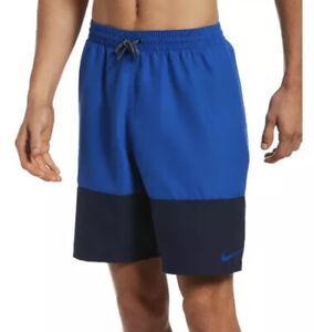 Nike Men's Swim Authentic Split ColorBlock 9 Inch Trunks Sz. M NEW NESSN450-494