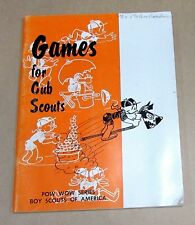 Old 1963 Boy Scouts America Games For Cub Scouts Pow Wow Series Book FREE S/H