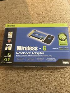 Linksys WPC54G Wireless G Notebook Adapter Sealed NIP