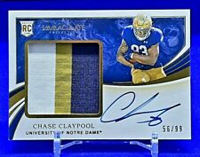 CHASE CLAYPOOL *SP /99 AUTO PATCH RC* 2020 PANINI IMMACULATE STEELERS ROOKIE WR