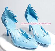 FROZEN ELSA cosplay shose costume Blue colour Heels