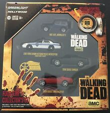 GREENLIGHT Hollywood Film Reels - THE WALKING DEAD - Set of 4 Cars & Case - 1:64