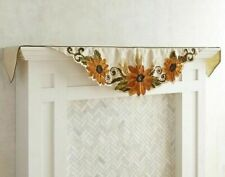 Pier 1 Imports Sunflowers Mantel Scarf Embroidered Fall Harvest Fireplace New
