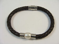 Leather Stainless Steel Magnetic Fashion Bracelets