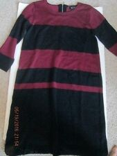 Women's AB Studio Sweater Dress size Small Maroon and Black 3/4 sleeve New w/tag