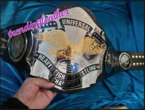 Universal Heavyweight Championship Leather Belt 2MM Brass Metal Plates