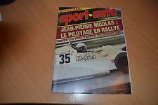 Sport Auto N°195 Opel Kadett sportives.Dolomite Sprint