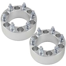 "(2) 2"" 6x139.7 Wheel Spacers 12x1.5 Studs 6x5.5 Billet T6 6061"