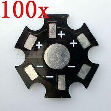 100 étoiles 20mm haute puissance 1W/3W LED dissipateur thermique en aluminium
