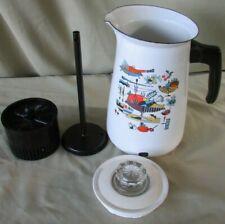 60's Mid Century Modern Enamel Enamelware Coffee Pot Georges Briard Kaj Franck