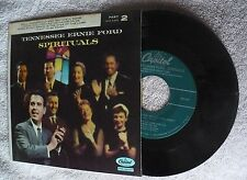 Tennessee Ernie Ford: 'SPIRITUALS' Part 2 Capitol HiFi 45 RPM Record - Excellent