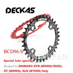 Deckas Narrow Wide Chainring 96BCD-S 32T/34T/36T/38T MTB Single Round Oval Disc