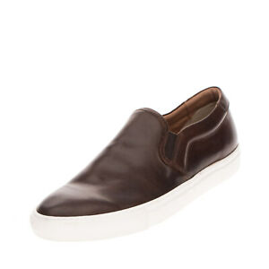RRP €160 MINORONZONI Leather Sneakers Size 45 UK 11 US 12 Elasticated Inserts