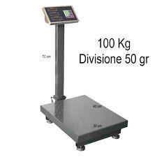 BILANCIA BILICO ELETTRONICA BASCULA LCD DIGITALE PROFESSIONALE 100KG ACCIAIOINOX