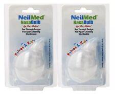 2 Pack NeilMed NasaBulb for Baby by Dr Mehta Silicone Nasal Aspirator
