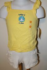 Gymboree Sea Splash Girls Size 4T 4 horse Top Beach NWT Solid Basic Shorts Knit