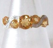 9 Carat Yellow Gold Citrine Vintage Fine Rings