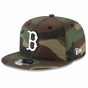 New Era x MLB Men's Boston Red Sox Basic 9Fifty Snapback Hat Camo Green Adjus