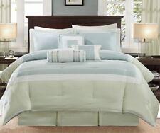 New Madison Park Genevieve 7-Piece Comforter Set in Aqua Green King