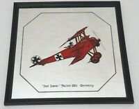Fokker DR-1 Germany Red Baron Collectible Mirror - 12 Inch X 12 Inch - RARE