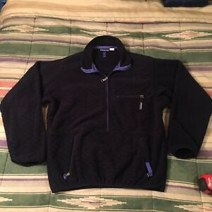 Patagonia Made Usa Quilted Fleece Zip Jacket Vintage Small