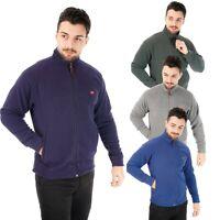 New Mens Fleece Jacket Full Zip Up Heavy Outdoor Warm Polar Anti Pill Work Wear