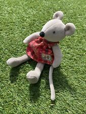 Moulin Roty Tiny Nini Mouse Soft Toy - La Grande Famille 8ins Red Flower Dress