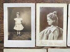 1896 - 1898 LOT of 12 CABINET CARD Photos Kate ROBBINS LEONARD Family Rebecca C.