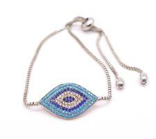 Nazar Damen Armband Auge Zirkon kristall Gold Silber Armkette Schmuck E75S1