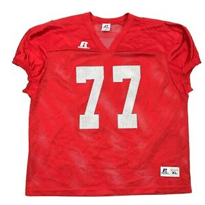 NEW Russell Athletic Adult Red Football Jersey Men's Size XL 1X Active Sports
