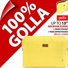 """New Golla 15"""" Yellow Apple Macbook Sleeve Bag Padded Carry Case up to 15.4"""""""