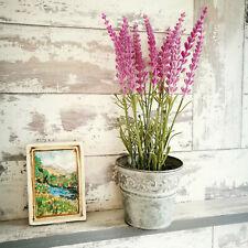Artificial Faux Flowers Lavender Plant Pot Home Decor