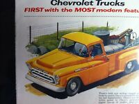 1957 Chevrolet Step Side Farm Pick Up*Ready to Display*Original*car ad print