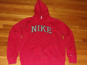 NIKE LONG SLEEVE RED HOODIE MENS MEDIUM EXCELLENT CONDITION
