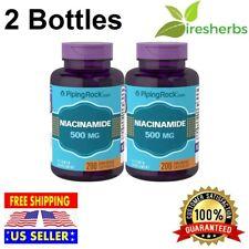 NIACINAMIDE 500mg Vitamin B-3 Energy Booster Skin Health SUPPLEMENT 400 Capsules