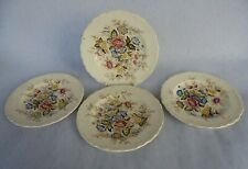 Vintage Set of Four Tea Plates Crown Ducal Ware Wilmslow Hand Coloured