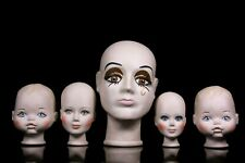 Porcelain Doll head collection Hand Painted 20th Century