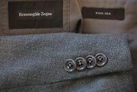 Ermenegildo Zegna Milano CURRENT Silk Blend Gray Woven Sport Coat Jacket Sz 42R