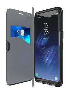 Genuine Tech21 2-in1 Evo Wallet Case With Flex Shock For Samung Galaxy S8 BLACK