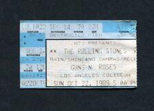 1989 Rolling Stones Guns N Roses concert ticket stub Steel Wheels Los Angeles CA