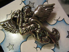 Silver 21st CENTURY  ANGEL MILLENNIUM 2000 Pin/Brooch ~ Nice Religious  Gift!