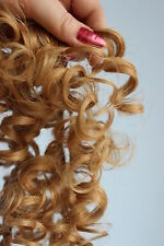 Human Hair Rooting Reborn Babies Toddlers Curl Blonde Curly Gold NOT Mohair