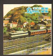 """MODELES REDUITS """"TRAIN & LOCOMOTIVE LIMA"""" VICENZA (ITALIE) Dépliant Publicitaire"""