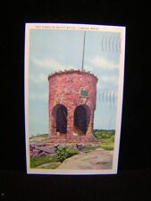 Antique POSTCARD CAMDEN, ME. Tower @ Mount Battie