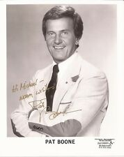 PAT BOONE Hand Signed 8x10 Photo - Free S/H in the US