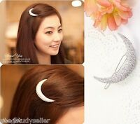 Crystal Moon Hair Clips Barrette Hairpins Fashion Girl Lady Hair Accessories