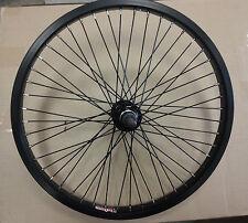 "BLACK 20"" bmx bike REAR wheel Alex Y303 48H Alloy 14mm axle BLACK REAR WHEEL NEW"