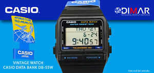 "Vintage Casio Data Datenbank DB-55W. Aka "" Telememo "" Qw 675 Japan, WR.50m."